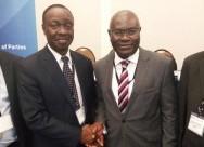 Shola Taylor (right), Secretary-General of Patick Masambu (left), Director-General of ITSO