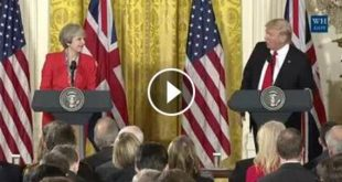 Usa-Grande Bretagne : Rencontre entre Donald Trump et Theresa May