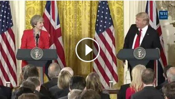 donald-trump-theresa-may-rencontre